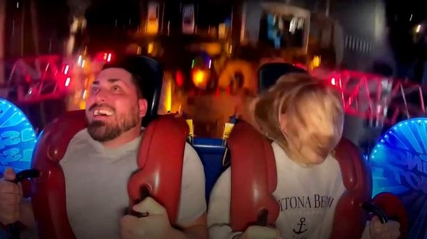 Man loses perfect smile as false tooth flies out his mouth on slingshot ride